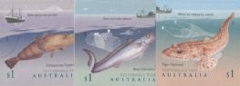 AUS 14/03/2019 Sustainable Fish self-adhesive set of 3 from booklet (exSB652)